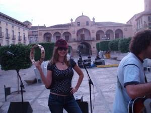 Rockin' it in Spain.
